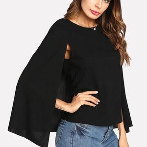 Tops - Keyhole Back Cloak Sleeve Blouse
